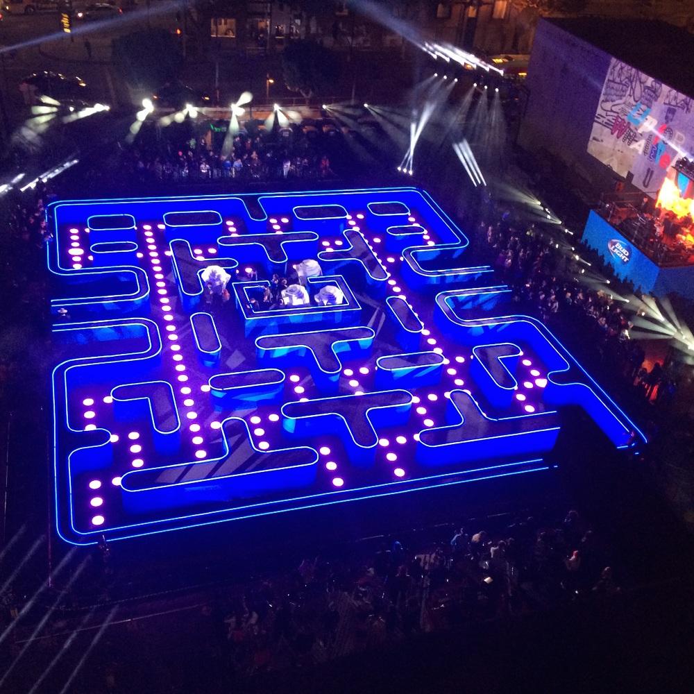 Pac-Man – gra komputerowa rzeczywistej wielkości